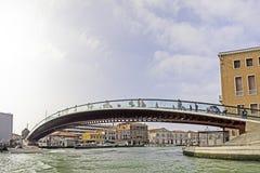 Venetië, calatravabrug Stock Foto