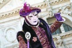 Venetië Carnaval 2011 - masker Stock Foto's