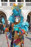 Venetië Carnaval 2011 - masker Stock Foto