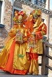 Venetië Carnaval 2011 - maskers Stock Afbeelding