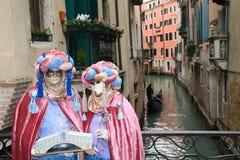 Venetië Carnaval 2011 - maskers Royalty-vrije Stock Afbeelding