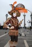 Venetië Carnaval in Italië Stock Foto's