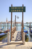 Venetië De dienstgondels Royalty-vrije Stock Foto