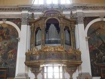 Venetië - de kerk van San Moise stock afbeelding