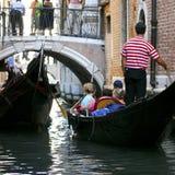 Venetië - de Reeks van de Gondel Stock Afbeeldingen