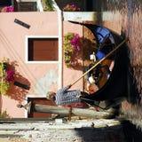 Venetië - de Reeks van de Gondel Royalty-vrije Stock Afbeeldingen