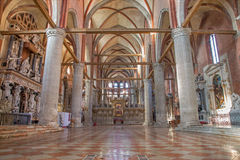 Venetië - dei Frari van Di Santa Maria Gloriosa van de kerkbasiliek. Royalty-vrije Stock Foto's