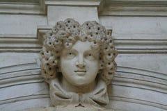 Venetië, detail van een monument stock fotografie