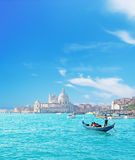 Venetië door gondel royalty-vrije stock foto