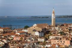Venetië en de Lagune van Venetië Royalty-vrije Stock Afbeelding