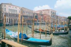 Venetië en gondels Royalty-vrije Stock Fotografie