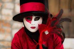 Venetië - Februari 6, 2016: Kleurrijk Carnaval-masker door de straten van Venetië Royalty-vrije Stock Afbeeldingen