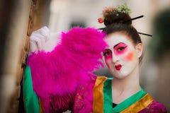 Venetië - Februari 6, 2016: Kleurrijk Carnaval-masker door de straten van Venetië Royalty-vrije Stock Fotografie