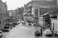 Venetië - Fondamente Nuove en kanaal Stock Foto's