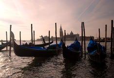 Venetië - Gondel Stock Afbeeldingen