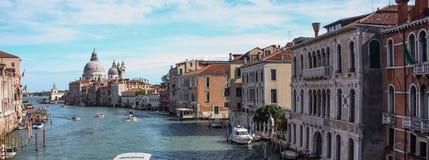 Venetië Grand Canal Panarama Stock Afbeelding