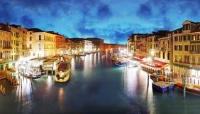 Venetië - Groot Kanaal van Rialto-brug Royalty-vrije Stock Fotografie