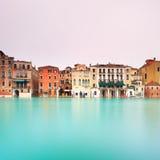 Venetië, het Grote detail van het Kanaal. Lange blootstellingsfoto Stock Fotografie