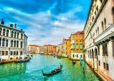 In Venetië in Italië Stock Afbeeldingen