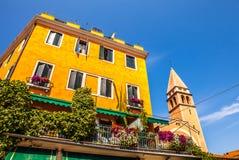 VENETIË, ITALIË - AUGUSTUS 21, 2016: Beroemde architecturale monumenten van Lido-eiland op 21 Augustus, 2016 in Venetië, Italië Royalty-vrije Stock Foto