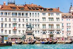 Venetië, Italië - Augustus 22, 2018: Luxueus het Paleisne van hotellondra royalty-vrije stock afbeeldingen