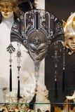 VENETIË, ITALIË, 25 AUGUSTUS: Venetiaanse Carnaval-maskers voor verkoop.  Royalty-vrije Stock Afbeelding