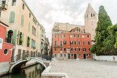 Venetië, Italië bij dageraad stock foto
