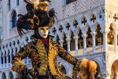 Venetië, Italië Carnaval van Venetië stock afbeeldingen