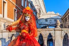 Venetië, Italië Carnaval van Venetië stock foto's