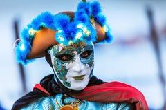 Venetië, Italië Carnaval van Venetië Stock Foto