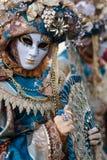 Venetië, Italië Carnaval van Venetië, mooie maskers bij St Teken` s Vierkant stock afbeeldingen