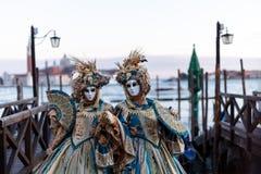 Venetië, Italië Carnaval van Venetië, mooie maskers bij St Teken` s Vierkant royalty-vrije stock foto's