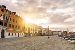 Venetië, Italië in de ochtendzon stock fotografie
