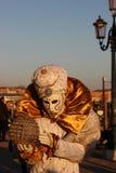 VENETIË, Italië - FEBRUARI 24, 2014: Carnaval in Venetië - één van populair Carnaval in Europa Stock Afbeelding