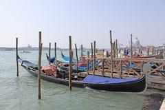 Venetië, Italië gondolas Stock Foto