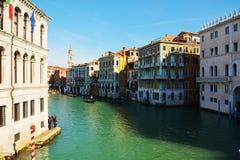 Venetië, Italië, Grand Canal en historische gebouwen stock afbeeldingen