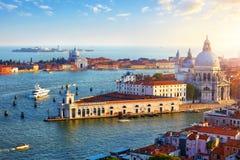 Venetië Italië Hoogste mening bij Kathedraal stock afbeeldingen