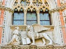 Venetië, Italië - Mei 10, 2014: Het detail van St Mark Basilica Stock Afbeeldingen