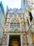 Venetië, Italië - Mei 10, 2014: Het detail van St Mark Basilica Stock Foto