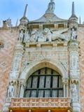 Venetië, Italië - Mei 10, 2014: Het detail van St Mark Basilica Stock Fotografie