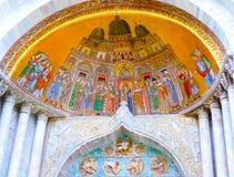 Venetië, Italië - Mei 04, 2017: Het detail van St Mark Basilica Royalty-vrije Stock Afbeelding