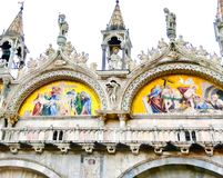 Venetië, Italië - Mei 04, 2017: Het detail van St Mark Basilica Stock Foto's