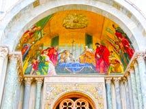 Venetië, Italië - Mei 04, 2017: Het detail van St Mark Basilica Royalty-vrije Stock Fotografie