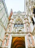 Venetië, Italië - Mei 04, 2017: Het detail van St Mark Basilica Stock Afbeeldingen