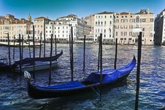 Venetië, Italië, 6pm Januari 2017 stock foto