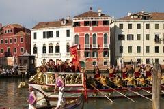 VENETIË, ITALIË - SEPTEMBER 7, 2014: De historische schepen openen Reg. Stock Fotografie