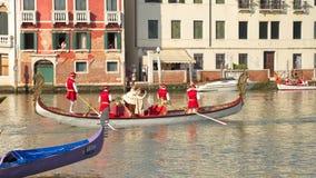 VENETIË, ITALIË - SEPTEMBER 7, 2014: De historische schepen openen Reg. Stock Foto's