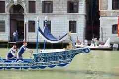VENETIË, ITALIË - SEPTEMBER 7, 2014: De historische schepen openen Reg. Stock Afbeelding