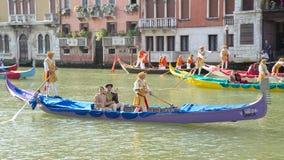 VENETIË, ITALIË - SEPTEMBER 7, 2014: De historische schepen openen Reg. Stock Foto