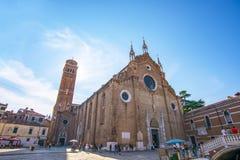 Venetië Italië September 2018 DiSanta Maria Gloriosa dei Frari van de basiliek stock foto's